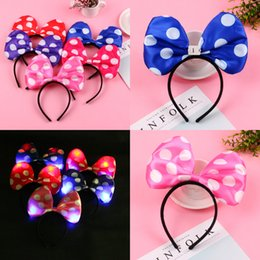 Cute Gilter Cartoon Polka Dot bow flash Headband 12ps Nice Gifts For Wedding  Party Flower Girls Kids Bridal Headpieces Women Christmas Gift 3c8784f5364a