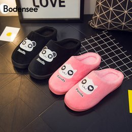 0eddfd070 2018 Bodensee Cute Panda Eyes Women Cute Slippers Lovely Cartoon Indoor  Home Soft Shoes Women Slippers Ladies Flip Flop S0068