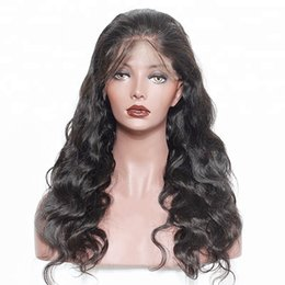 $enCountryForm.capitalKeyWord Australia - Fashion top grade new unprocessed virgin remy human hair long natural color big curly full lace cap wig best for women