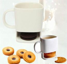 $enCountryForm.capitalKeyWord Australia - Ceramic Mug Coffee Biscuits Milk Dessert Cup Tea Cups Bottom Storage for Cookie Biscuits Pockets Holder For Home Office