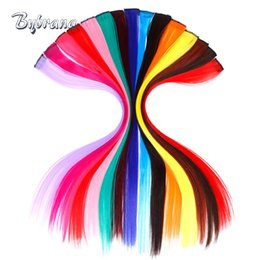 "Discount red remy human hair - Bybrana 18"" 1 Clip In Human Hair Women Extensions 1Pcs Straight Non Remy Human Hair Extensions Red Pink Yellow"