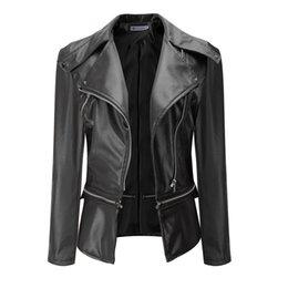 Preiswert Kaufen Ftlzz Faux Leder Jacke Frauen Rosa Punk Mode Biker Mantel Schlank Pu Leder Jacke Weiche Motorrad Jacke Haus & Garten