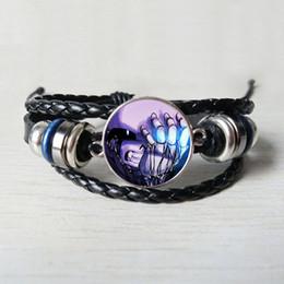 $enCountryForm.capitalKeyWord NZ - Undertale Game Gamer Gaming Leather bracelet Ghost Video Game bracelet Glass Cabochon black Leather Art Gifts