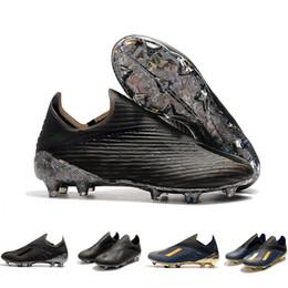 $enCountryForm.capitalKeyWord Australia - 2019 Laceless X 19+FG Mens Trainers Soccer Shoes Cleats Dark Script 302 Redirect Pack Navy Black Crampons De Football Boots Designer Shoes