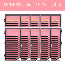 eyelash lashes UK - HPNESS 10 Trays Lot Fake Eyelashes Natural Color Uesd for Professional Eyelash Extension Very Sofy with Mixed Length