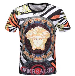 China mens designer t shirts high-quality printing is very perfect head There Medusa label Men's T-Shirts Asia size cheap t shirts very short sleeves suppliers