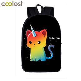 $enCountryForm.capitalKeyWord Australia - Cartoon Unicorn Backpack School Little Pony Children School Bags for Girls Boys Dab Panda Horse Toddler Backpack Kids Book