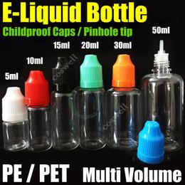 Liquid Electronic Cigarette Australia - DHL Free e liquid Empty Needle Bottles PE PET caps pinhole tip multi volume Plastic Needle Dropper for eGo Series Electronic Cigarette