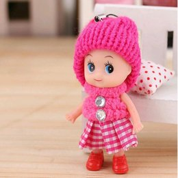$enCountryForm.capitalKeyWord Australia - INS 8cm Baby toys Baby dolls Interactive keychains soft pendant Toys for girls Creative small gifts key holder mini toy Free Shipping