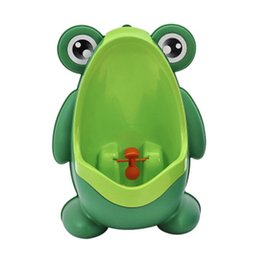 Boys Training Urinals NZ - Kids Frog Toilet Children Stand Vertical Urinal Wall-Mounted Urine Potty Groove Baby Boys Urinal Training Stand Vertical Boy Toddler Pot