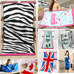$enCountryForm.capitalKeyWord Australia - 12 Design Printed Flag Beach Towel Leopard Polyster Cotton Swimming Towel Shawl Pattern Sport Bath Towel 140*70cm HH7-991