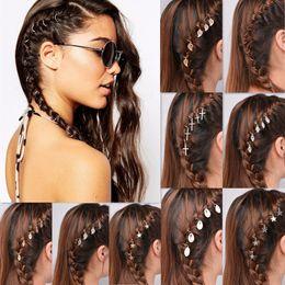 Dreadlock Hair Australia - Silver Hair Braid Dreadlocks Bead 5Pcs per Set Per Lot Gold Tone Hair Cuffs Dread Tube Charm Dreadlock Accessaries Extension