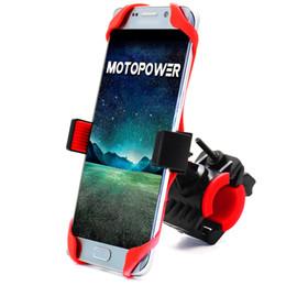 Handlebar Gps Australia - MOTOPOWER MP0616B Universal Bike Motorcycle Phone Car Holder Mountain & Road Bicycle Motorcycle Handlebar Cradle Holder - Holds Phones Up