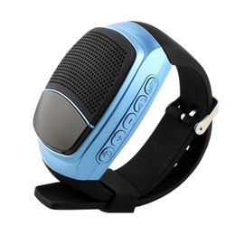 watch player 2019 - B90 Sports Bluetooth Speaker Hands-free Call TF Card Playing FM Radio Self-timer Wireless Speakers Smart Watch Time Disp