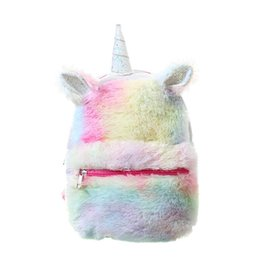 cute little backpacks Australia - Girls Unicorn Backpack Toddler Bags Cute Plush Bag Rucksack Little Kids Mini Unique Design Travel Daypack Bags