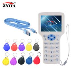 $enCountryForm.capitalKeyWord Australia - English 10 frequency RFID Copier ID IC Reader Writer copy M1 13.56MHZ encrypted Duplicator Programmer USB NFC UID Tag Key Card