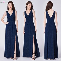$enCountryForm.capitalKeyWord Australia - Evening Dresses Long 2019 Ever Pretty Ep07505 A-line Cheap V-neck Long Gillter Side Split Long Sexy Evening Gowns For Ladies Y19051401