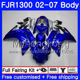 Corpo para YAMAHA FJR1300A FJR1300 01 02 03 04 05 06 07 246HM.0 FJR 1300 FJR-1300 2001 2002 2003 2004 2005 2006 2007 Carenagem Hot Factory azul on Sale