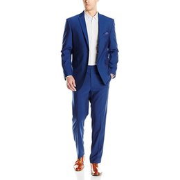 $enCountryForm.capitalKeyWord Australia - Custom Made New Style Mens 2 Button 2 Piece Modern Slim Fit Weding Tuxedos 2 Piece Groom Suits (Jacket+Pants) L630