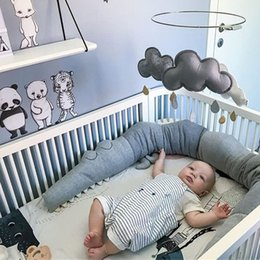 185cm Newborn Baby Bed Bumper Children Crocodile Pillow Bumper Infant Crib Fence Cotton Cushion Kid Room Bedding Baby protective on Sale