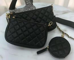 Three pieces handbags online shopping - Newest small purse fashionable new three piece handbag leather good quality cross body bag ladies gifts hot M44823 C camera bag