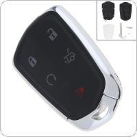 keyless remote case replacement UK - Black ABS+Metal 5 Buttons Keyless Smart Remote Car Key Replacement Key Remote Fob Shell Case for Cadillac ATS CT6 CTS SRX XT5 XTS KEY_201
