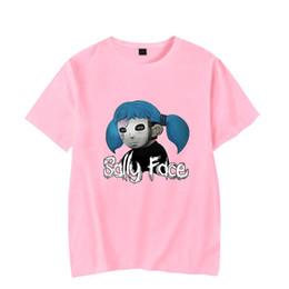 $enCountryForm.capitalKeyWord Australia - Sally Face T shirt Short Sleeve Fashion women men t shirt girls boys Summer Hip Hop Harajuku Print Sally Face T-shirt Clothes