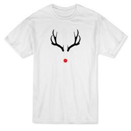$enCountryForm.capitalKeyWord NZ - Xmas Red Nosed Deer Graphic Men's White T-shirt
