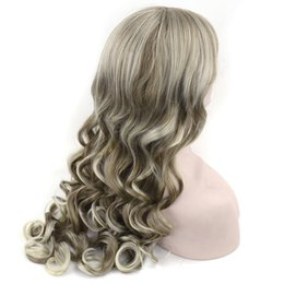 extra long cosplay wig 2019 - Synthetic Extra Long Wavy Brown Mixed Blonde Color Cosplay Wigs Fancy Dress Party Wig Headwear Hair Accessories For Wome
