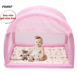 infant baby children mosquito Australia - FGHGF Inflatable Bracket Baby Bed Crib Folding Summer Safety Mosquito Net For Infant Portable Bed+1pc Free Mosquito Repeller