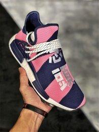 Plastic Red Heart Australia - Pharrell Williams Human Race PW HU HOLI MC Heart Inspiration Idea Designer Men Women Running Shoes Youth Equality Nerd Sneakers po02