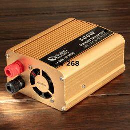 Dc Ac Car Converters NZ - Freeshipping BEAUTY-CAR 500W Car Vehicle DC 12V to AC 220V Power Inverter Adapter Converter w  USB Port - Gold