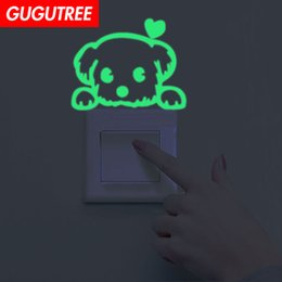 $enCountryForm.capitalKeyWord Australia - Decorate Home Diy dogs animal cartoon art glow wall sticker decoration Decals mural painting Removable Decor Wallpaper G-626