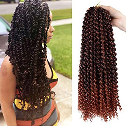 $enCountryForm.capitalKeyWord Australia - 18 Inch passion twist hair water wave Crochet Braids Synthetic bohemian crochet hair Passion Twist Crochet Hair Extensions t350