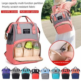 Discount clear color backpack NEW Hit Color Mommy Travel Backpacks Big Nylon Maternity Nappy Top-handle Bags Large Capacity Stroller Mommy Maternity B
