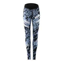 $enCountryForm.capitalKeyWord UK - Stitching Sports Pants Yoga Pants Workout Running Fitness Stylish Print Sport Active Wear For Women Ladies Fashion Sexy Gym Pant