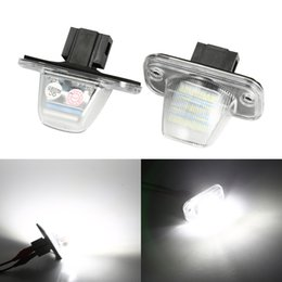 Vw license plates online shopping - 2Pcs V LED Number License Plate Light Lamps for VW T4 Transporter T4 Car License Plate Lights Exterior Accessories