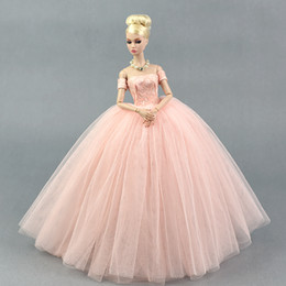 $enCountryForm.capitalKeyWord Australia - Dress + Veil   Pink Lace Party Dress Evening Gown Bubble skirt Clothing Outfit Accessories For 1 6 BJD Xinyi FR ST Barbie Doll
