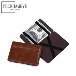 Discount magic wallet money - Magic Wallet Magic Money Clips Women Men Purse Wallet Ultrathin Slim Creative ID Card Cases