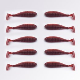 T Bait Australia - Artificial Fake Bait 10PCS LOT 8.8CM 2.8G T Tail Soft Lure for Bass Fishing Bait Fishing Lures Worm Fly Fishing Wobblers