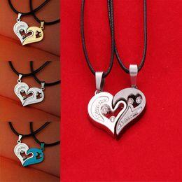 Heart Shaped Chains For Couples Australia - LNRRABC Fashion 1 Pc Unisex Women Men Charming I Love You Heart Shape Pendant Necklace For Lovers Couples Jewelry