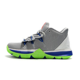 9c84308ce85c Cheap mens kyrie 5 basketball shoes Wolf Grey Oregon Ducks Yellow Black  Gold kids kyries irving sports sneakers tennis with box size 7 12
