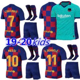 Venta al por mayor de 19 20 Barcelona Messi jersey Camisetas de fútbol SUAREZ MALCOM maillot de foot Barcelona camisetas PIQUE Vidal Dembele MUJERES 2019 2020