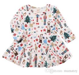 Christmas Gift Cute Toddler Baby Girl Santa Claus skirt white printe Dress  Long-Sleeves Skirt Outfits Set 9bb891724