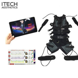 body fitness suit Canada - Wireless Body EMS Training Machine Fitness Suit Jacket Vest Xbody muscle stimulation Pad Control Sport club Gym Indoor outdoors