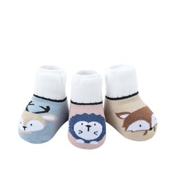 pink infant socks NZ - infant sneakers Newborn baby socks Baby socks autumn and winter pure cotton 0-1 year Or 2 3 year baby anti-slip wool loop socks full cotton