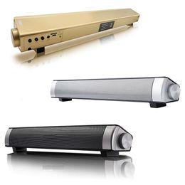 Mic Amplifier Speaker Australia - S08 Computer Bluetooth Speaker 12w Wireless Speaker Amplifier HIFI 3D Stereo Sound Bar with Mic USB TV fone de ouvido
