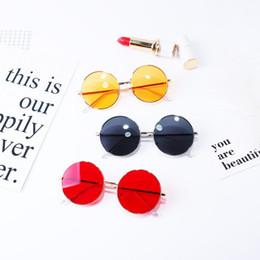 $enCountryForm.capitalKeyWord NZ - Boys girls sunglasses round kids sunglasses vintage style children candy color mirror Uv 400 sun glasses 2019 summer kids' sunblock F4254