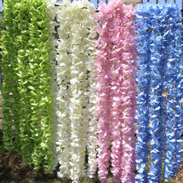Wholesale Fake Silk Hydrangea Artificial Flowers Wreaths For Home Wedding Party Decoration Hanging Garland Decor cm