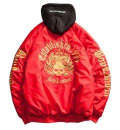 Skull Army Jacket Australia - good quality Ma1 Bomber Jacket Golden Skull Embroidery Mens Flight Jackets Harajuku Hip Hop Jaqueta Masculina Coat